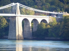 Close up of the Menai bridge for camera testing